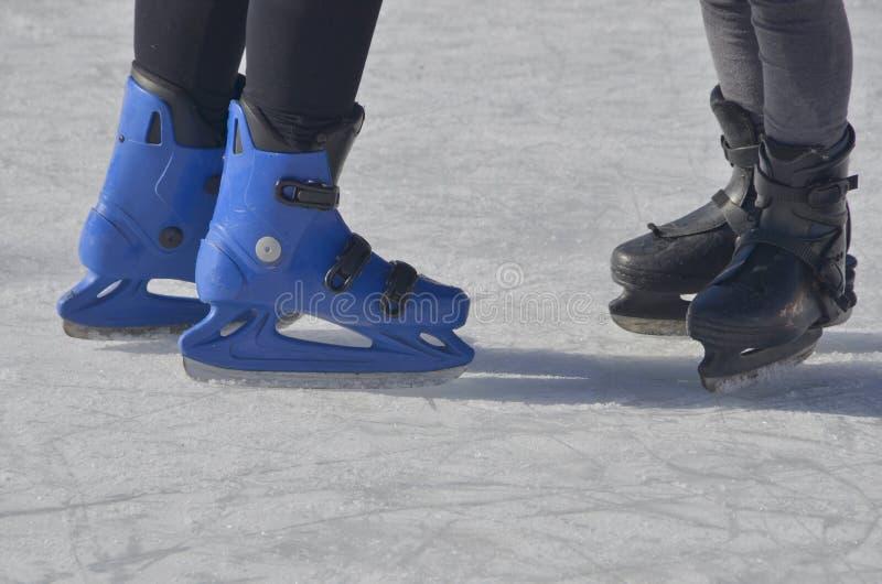 Patinage de glace image libre de droits