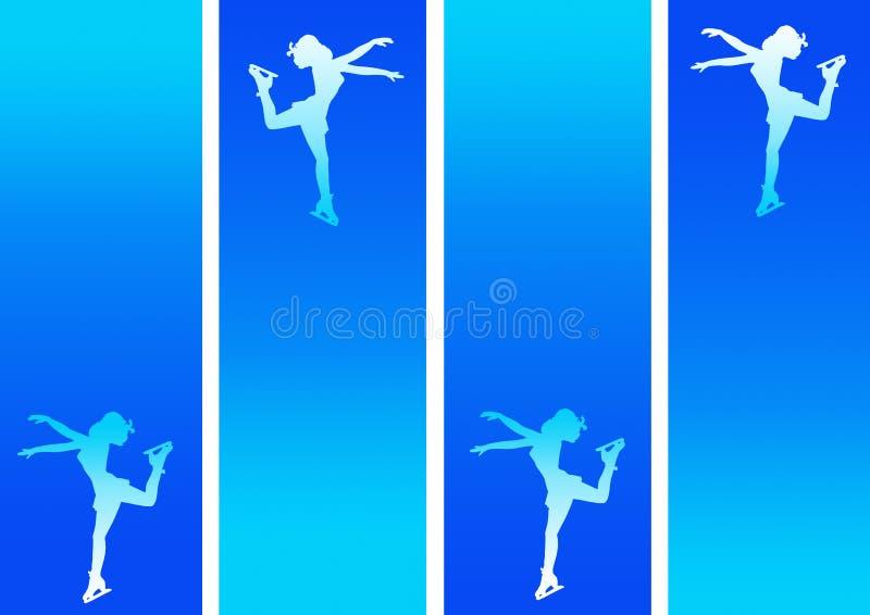 Patinagem de gelo no azul ilustração do vetor