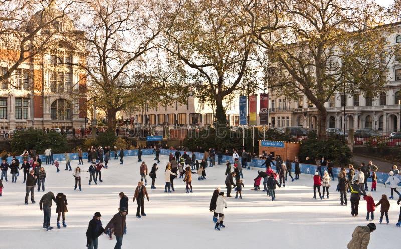 Patinagem de gelo no museu da História natural foto de stock royalty free