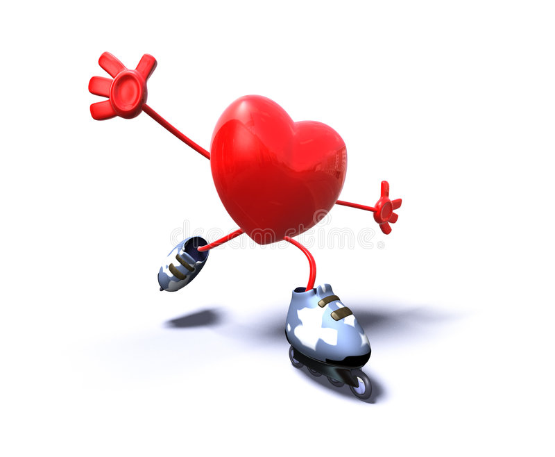 Patinagem do coração ilustração stock