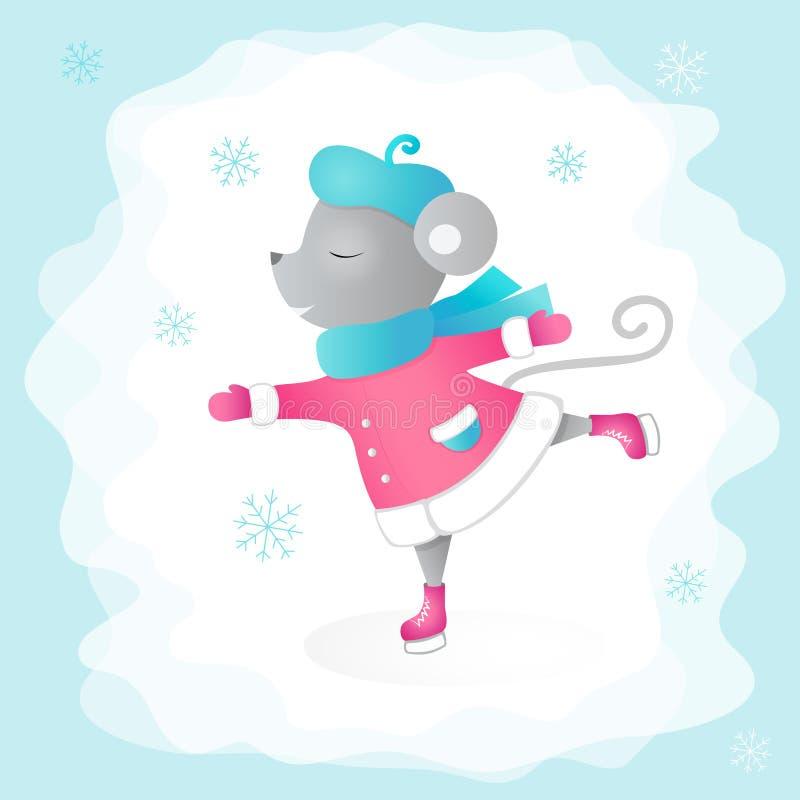 Patinagem do rato Azul, placa, pensionista, embarque, exercício, extremo, divertimento, papagaio, kiteboard, kiteboarding, kitesa fotografia de stock royalty free