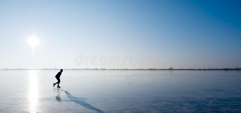 Patinaje de hielo fotografía de archivo