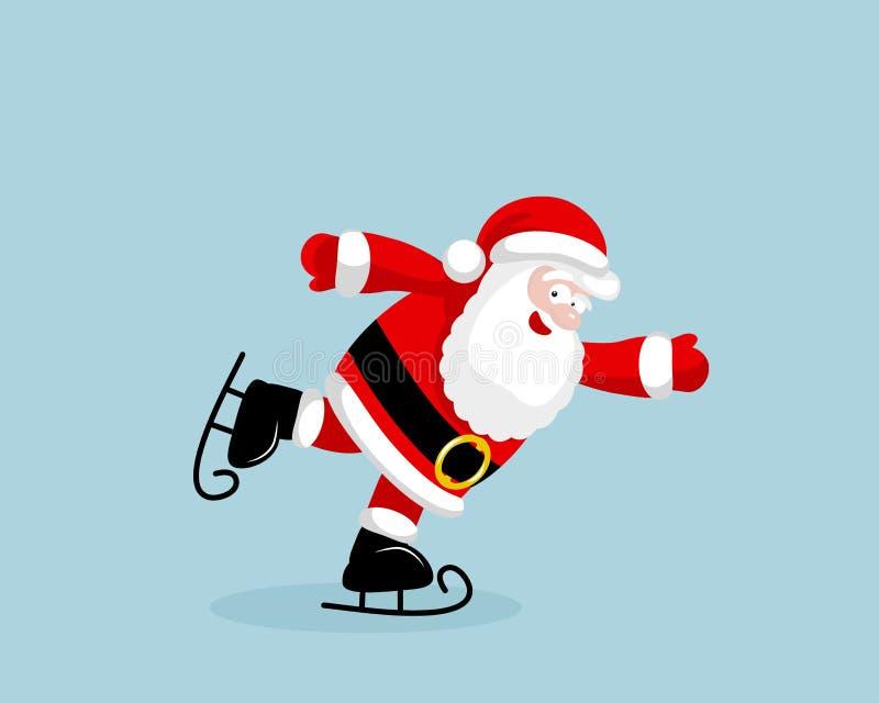 Patinaje de Santa Claus stock de ilustración