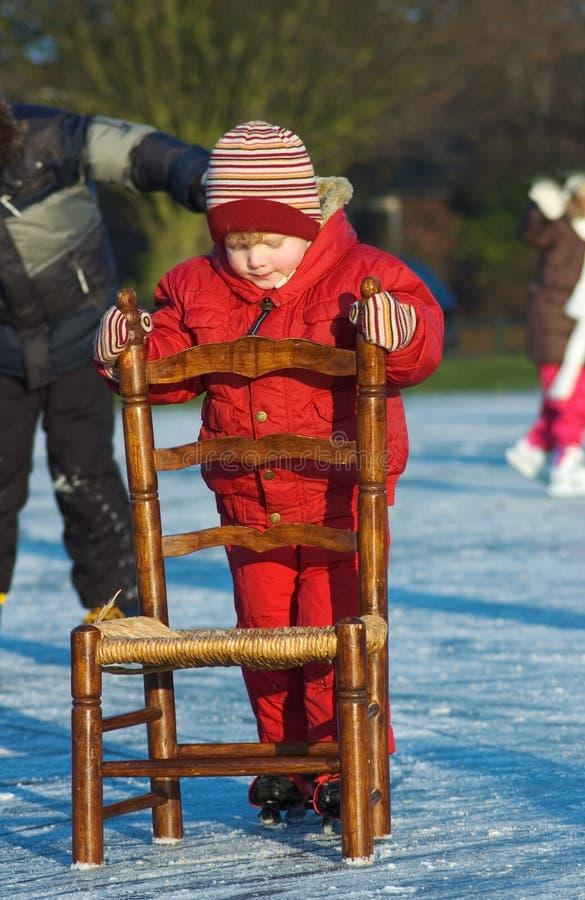 Patinaje del invierno fotografía de archivo