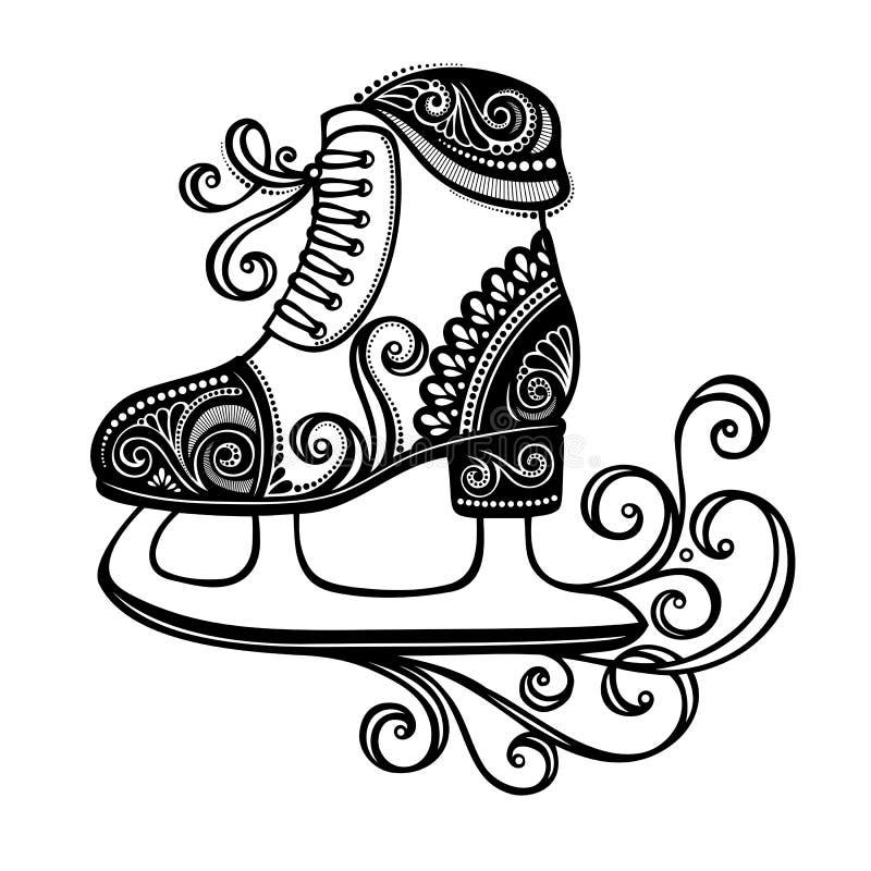 Patines adornados hermosos del invierno libre illustration