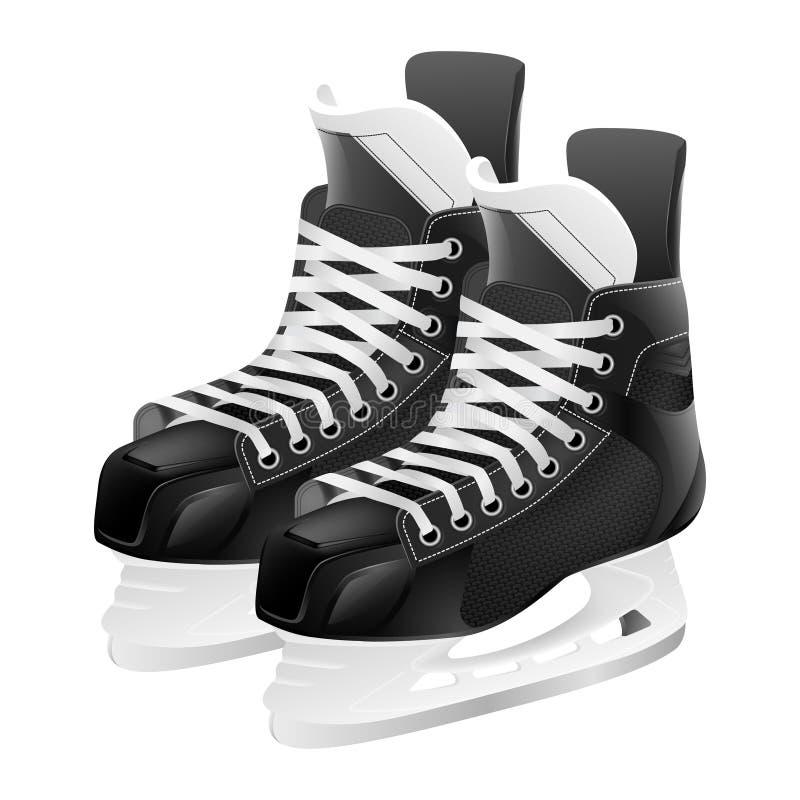 Patines del hockey sobre hielo del vector stock de ilustración