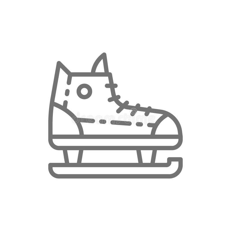 Patines, línea icono del equipo de deportes libre illustration