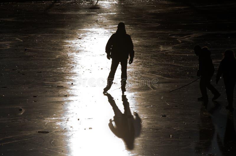 Patineur de glace photo libre de droits