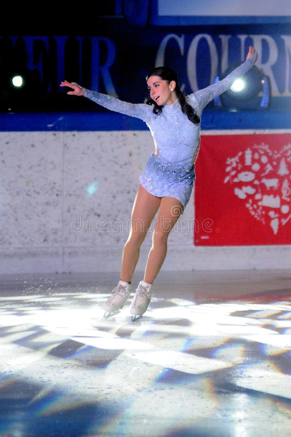Patineur de glace Valentina Marchei - championnat italien photo stock