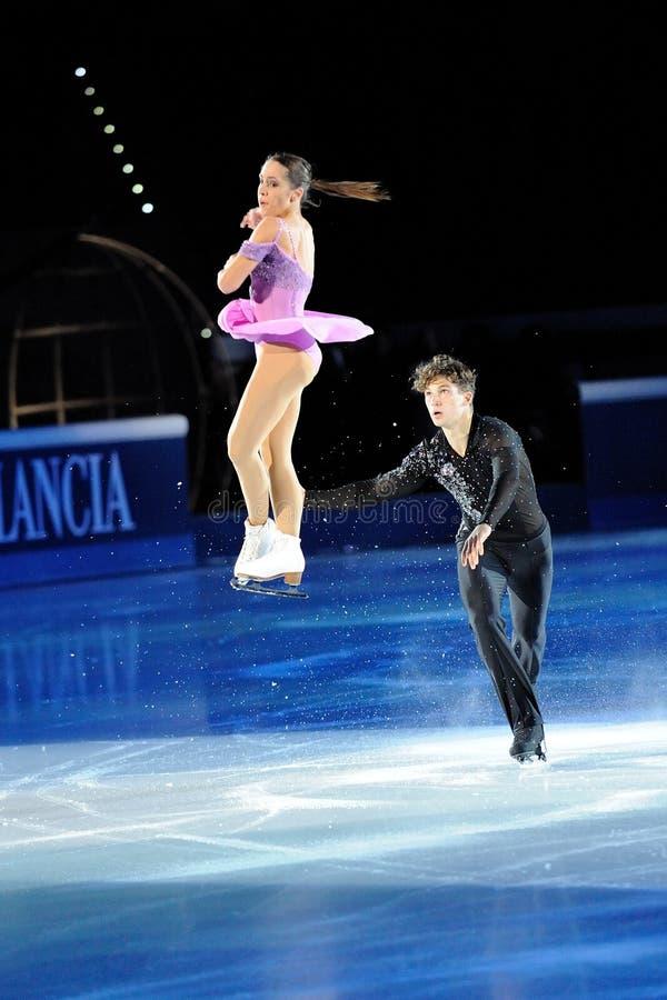 Patineurs de glace Nicole Della Monica et Matteo Guarise photo stock