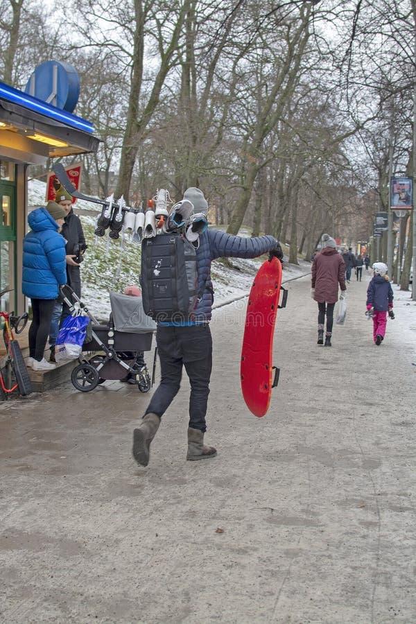 Patineurs sur la glace images stock