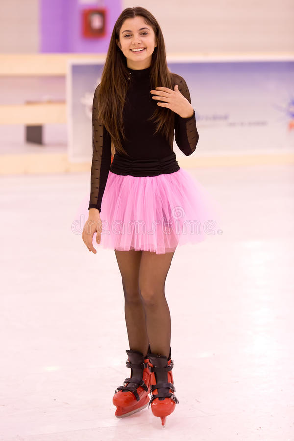 Patineuse de fille images stock