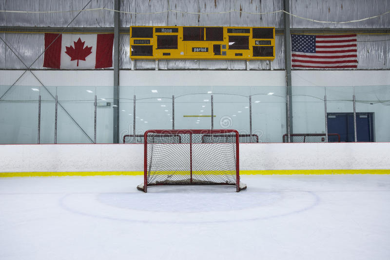Patinoire d'hockey image stock