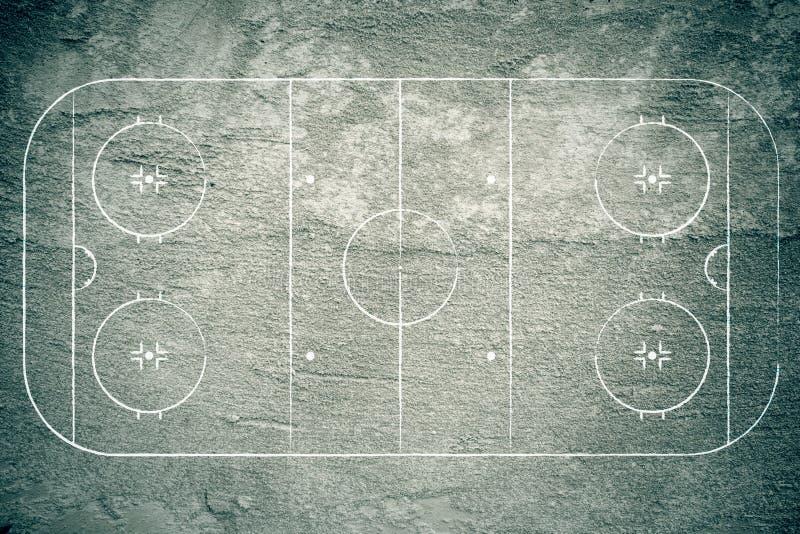 Patinoire grunge d'hockey illustration stock