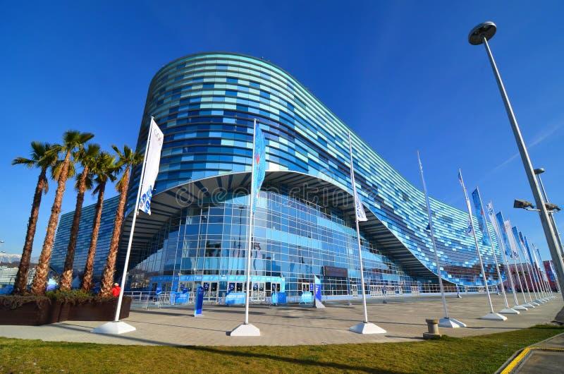 Patinoire pour l'iceberg de patinage artistique en parc olympique, Sotchi photos stock