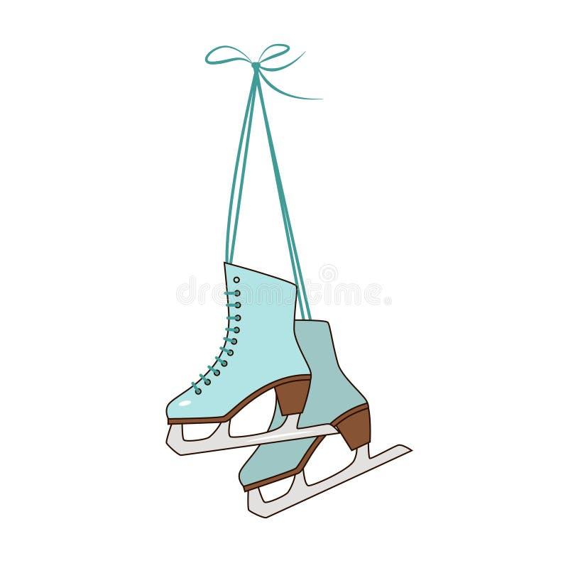 patins ilustração stock