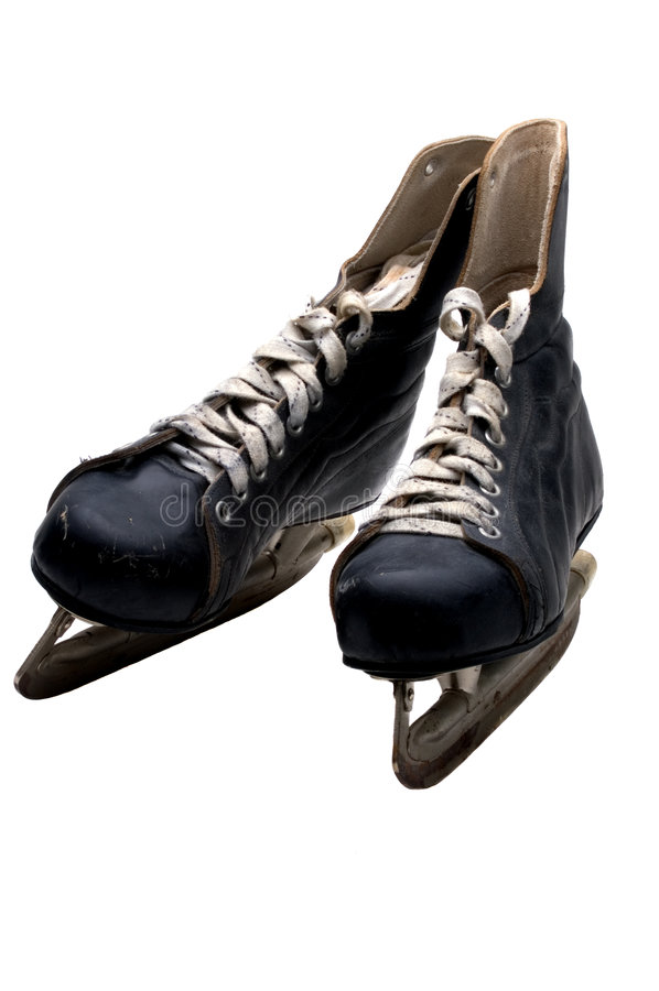 Patins de hockey sur glace image stock