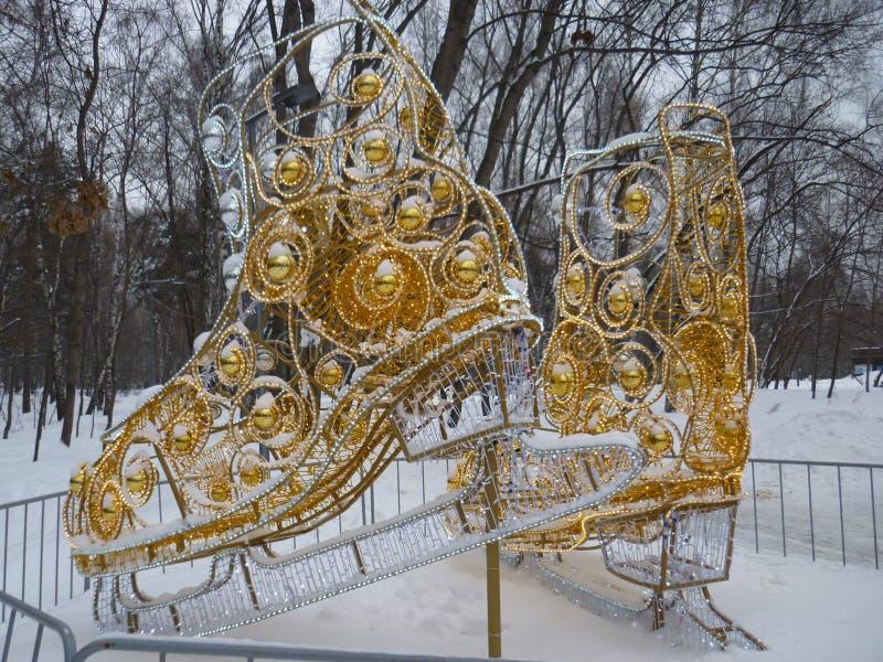 """Patins des femmes d'installation les """"en parc Kuzminki Moscou images stock"""
