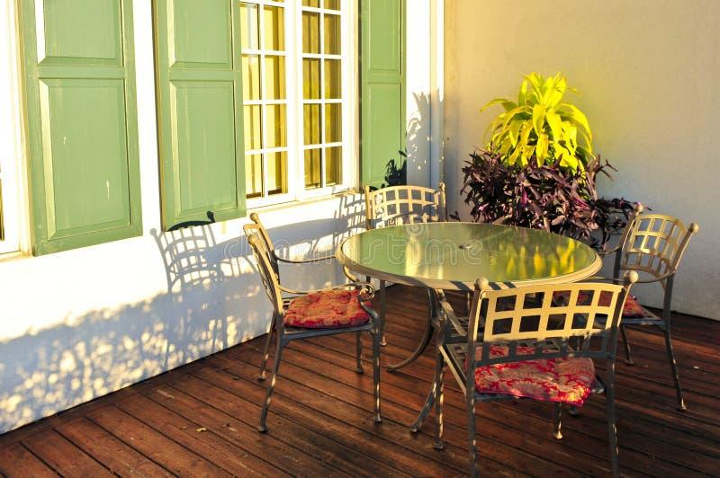 patio επίπλων στοκ φωτογραφία με δικαίωμα ελεύθερης χρήσης