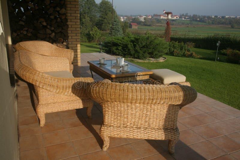 patio κατοικημένο στοκ εικόνα με δικαίωμα ελεύθερης χρήσης