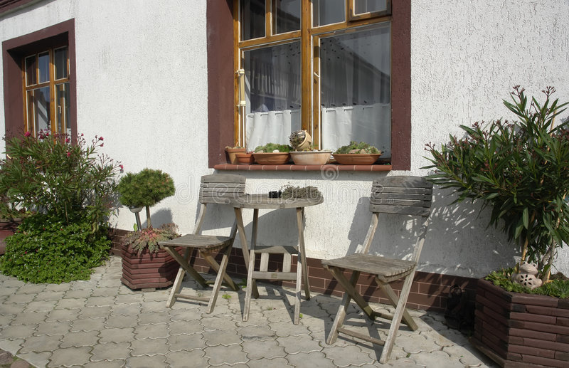 patio σπιτιών περιοχής στοκ φωτογραφία με δικαίωμα ελεύθερης χρήσης