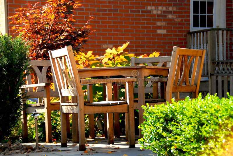 Patio stock photos