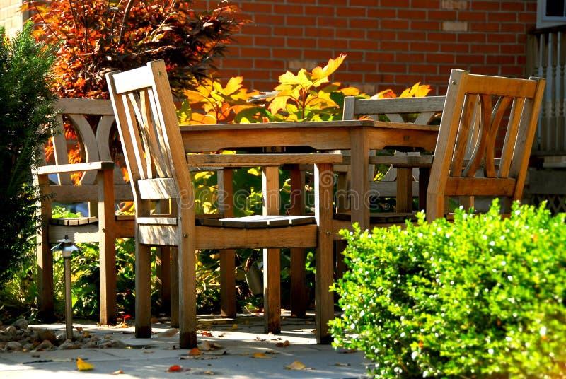 patio obrazy royalty free