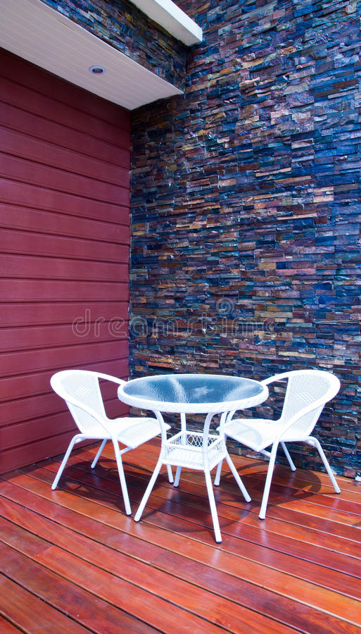 Patio stock image