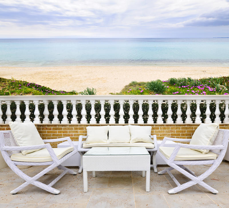 Download Patio with beach view stock photo. Image of area, beautiful - 20854776