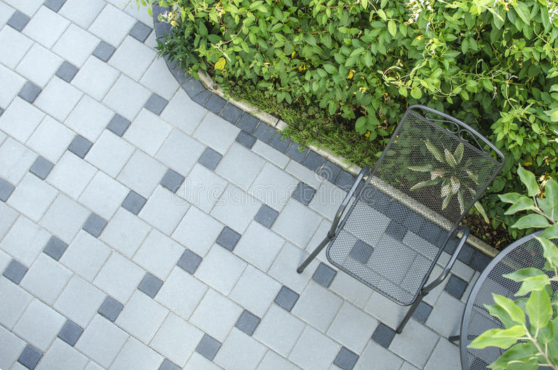 Download Patio blocks with chair stock photo. Image of architecture - 25421488