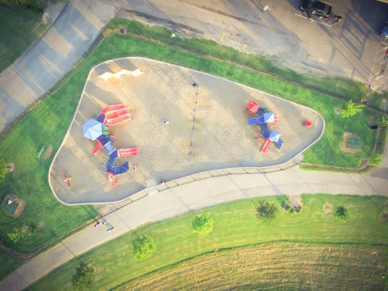 Patio colorido de la visión aérea en el parque público en Houston, Tejas fotografía de archivo libre de regalías