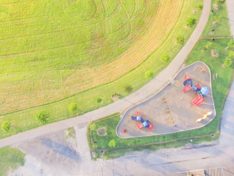 Patio colorido de la visión aérea en el parque público en Houston, Tejas imágenes de archivo libres de regalías