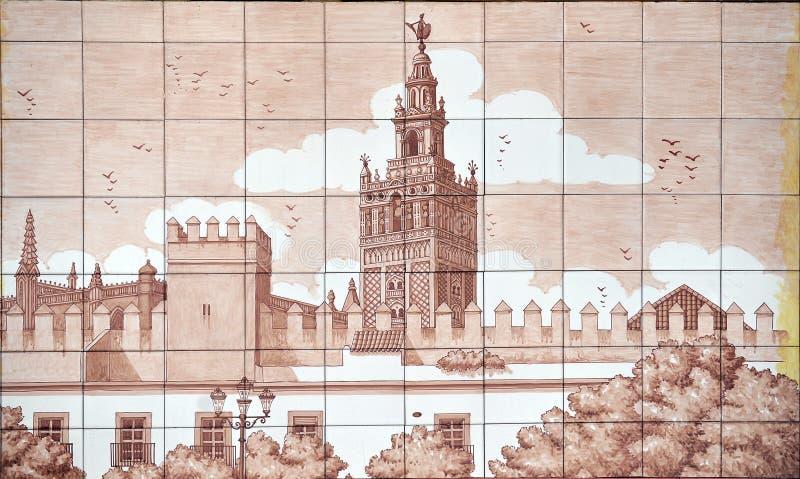 Patio de Banderas και ο πύργος Giralda, Σεβίλη, Ανδαλουσία, Ισπανία στοκ φωτογραφίες με δικαίωμα ελεύθερης χρήσης