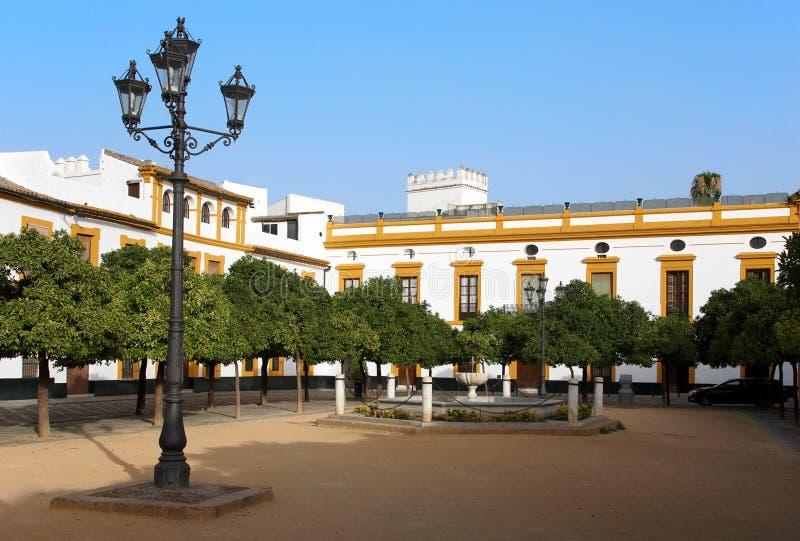 Download Patio de Banderas, Sevilla foto de archivo. Imagen de colorido - 7276174