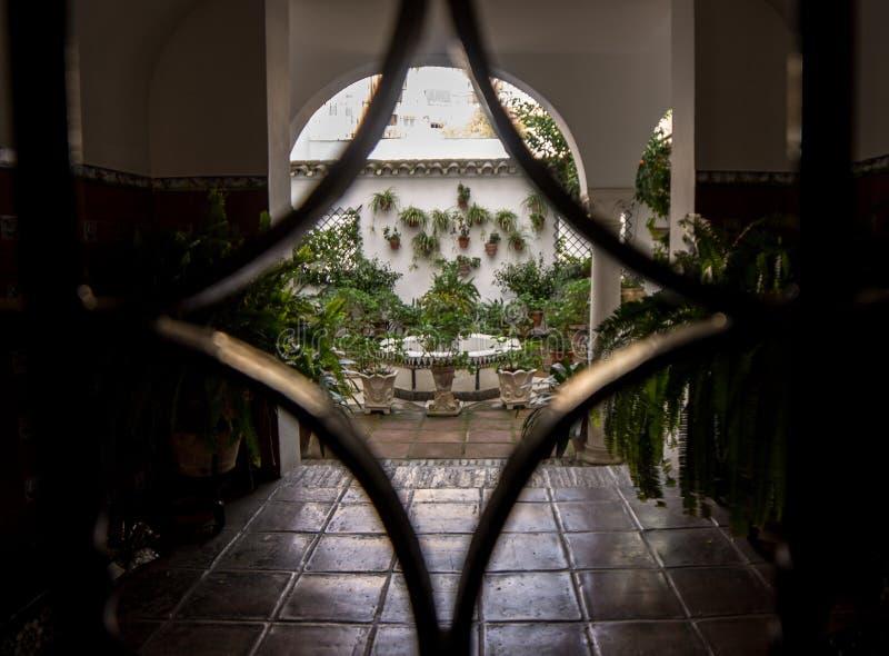 Patio de Córdoba de la puerta del hierro de la entrada imágenes de archivo libres de regalías