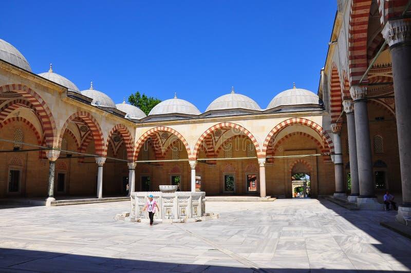 Patio de la mezquita de Selimiye, Edirne imagenes de archivo
