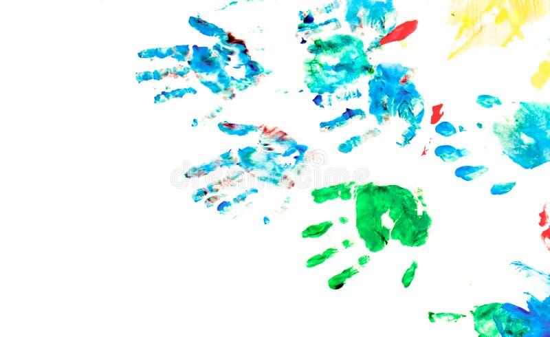 Patio de la pintura de la mano de los niños libre illustration