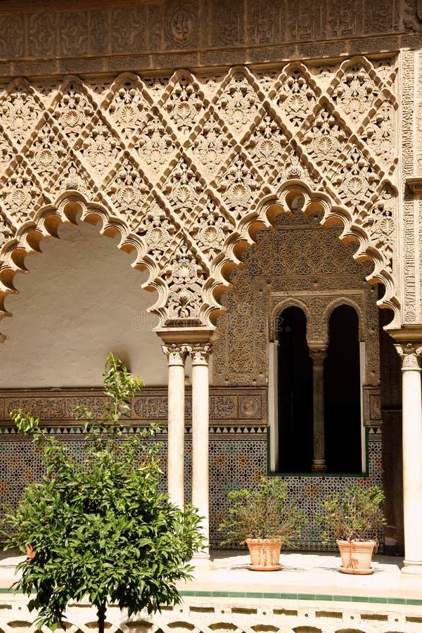 Patio de las Doncellas en Sevilla imagen de archivo libre de regalías