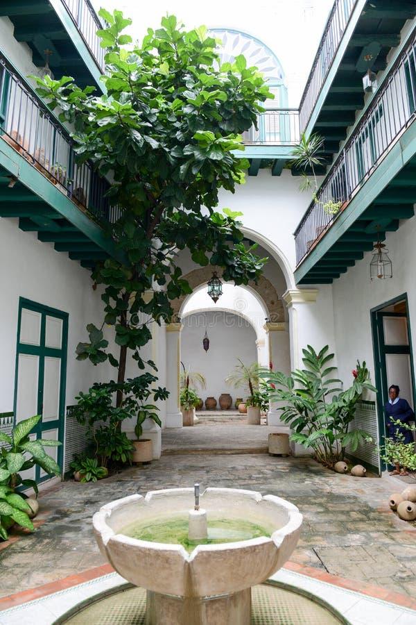 Patio Of De Los Arabes House At Old Havana Editorial Stock Photo ...