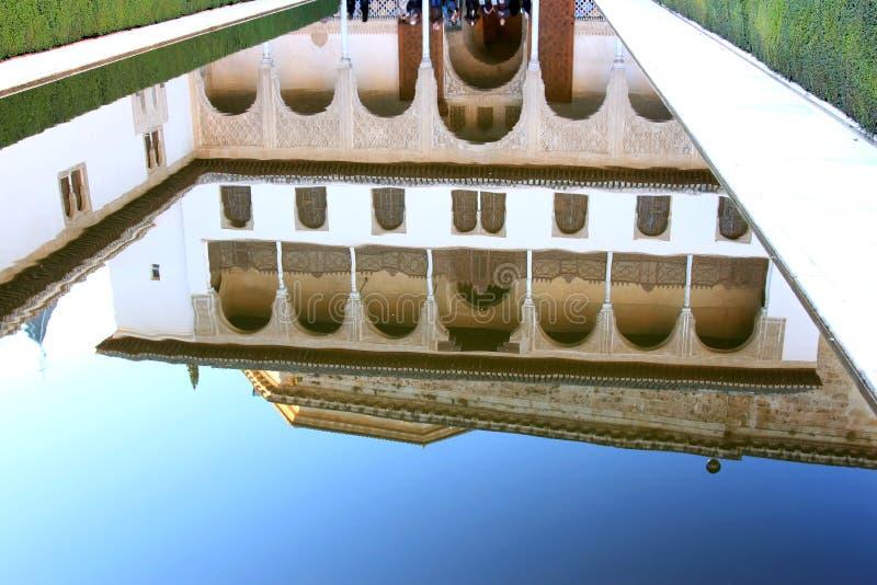 Patio de los Arrayanes, Alhambra, Granada, Spagna immagine stock