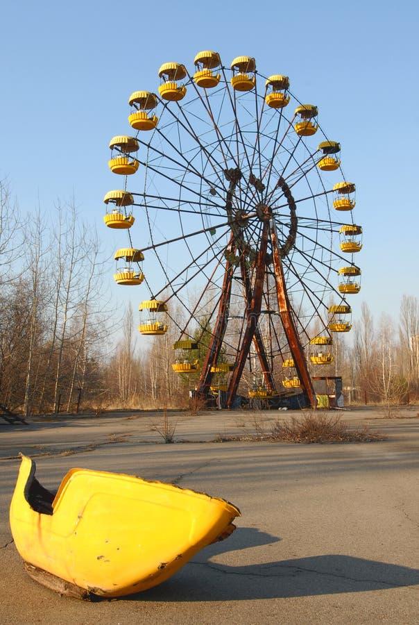 Patio de los niños en Chernobyl imagen de archivo