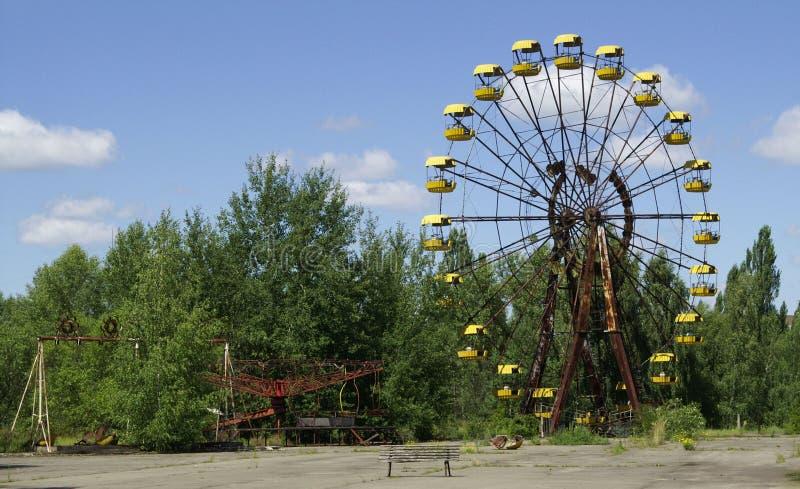 Patio de los niños en Chornobyl foto de archivo libre de regalías