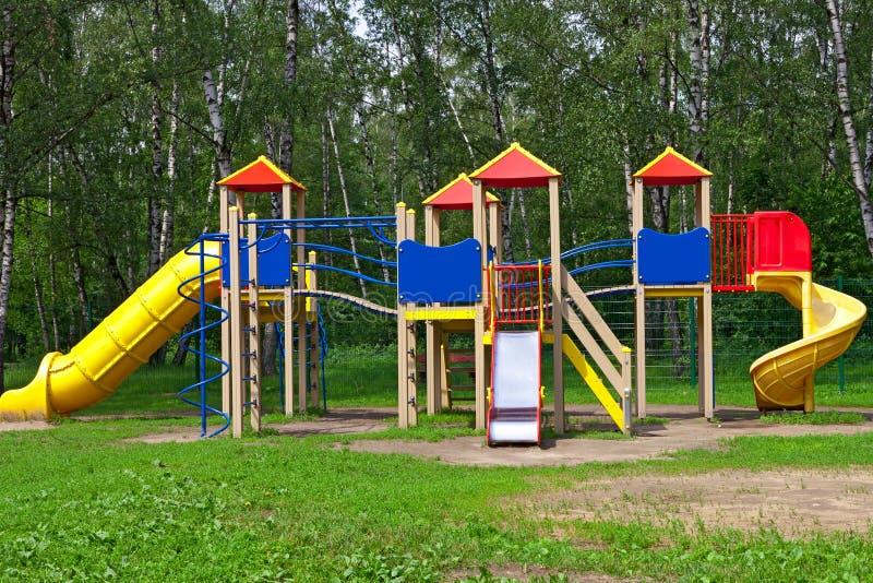Patio De Los Niños En El Parque Fotografía de archivo