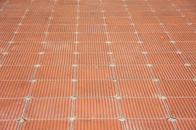 Patio de plancher de tuiles de brique d'argile image libre de droits