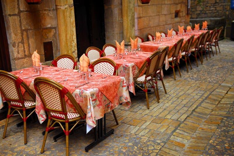 Patio de restaurant photos stock