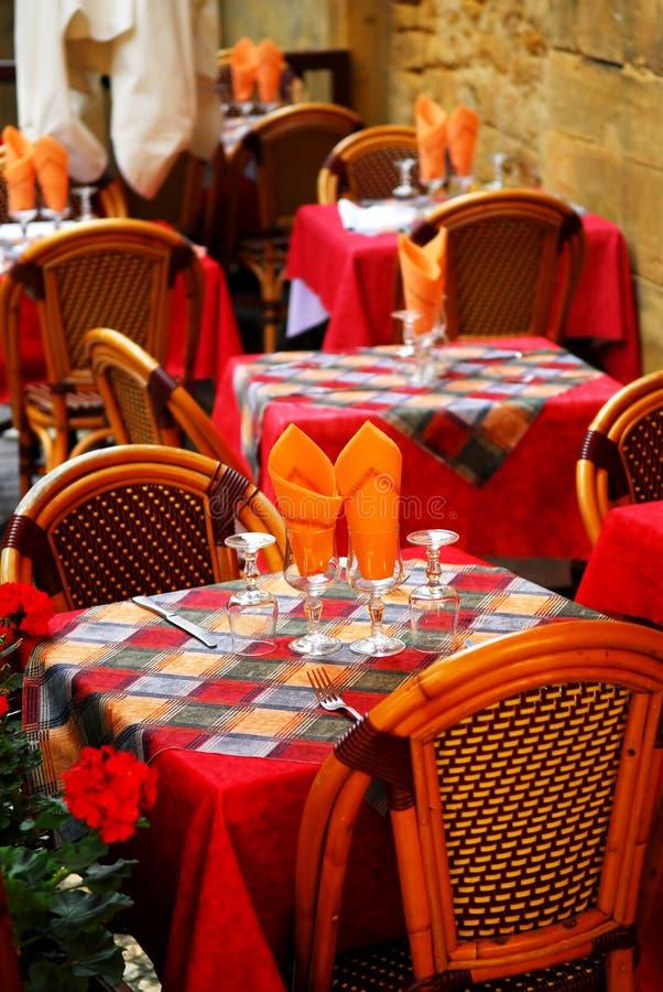 Patio de restaurant image stock