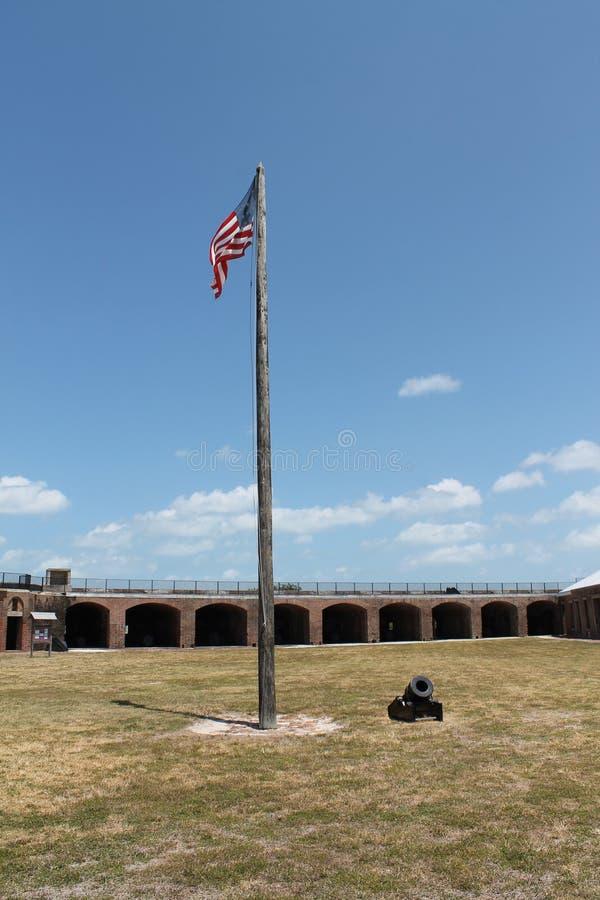 Patio de taylor del fuerte y bandera americana imagenes de archivo