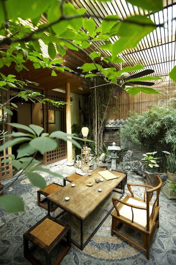 patio del restaurante del Chino-estilo imagen de archivo libre de regalías