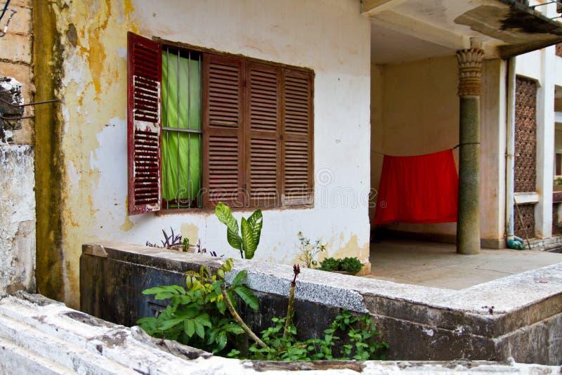 Patio en Laos fotos de archivo