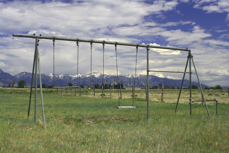 Patio en Montana viejo fotografía de archivo libre de regalías